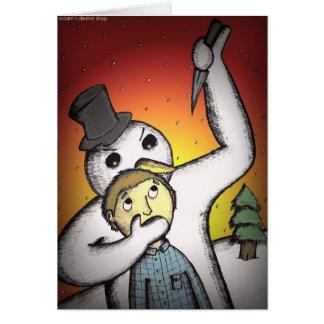 Alternative Christmas Cards - Killer Snowman