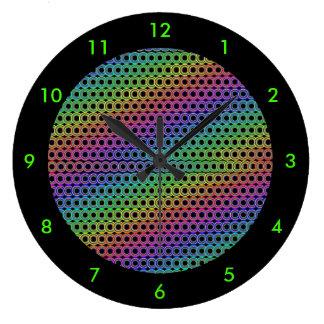Alternative circles retro wall clocks