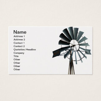 Alternative Energy - Pinwheel Windmill Power Business Card