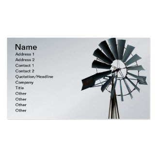 Alternative Energy - Pinwheel Windmill Power Pack Of Standard Business Cards