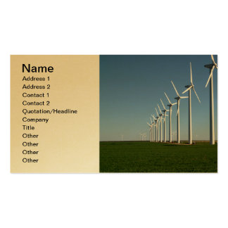 Alternative Energy - The Green Power Business Card