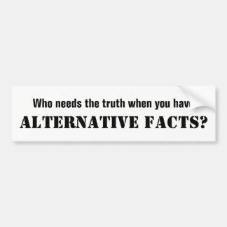 Alternative Facts White Bumper Sticker