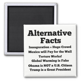 Alternative Facts White Refrigerator Magnet