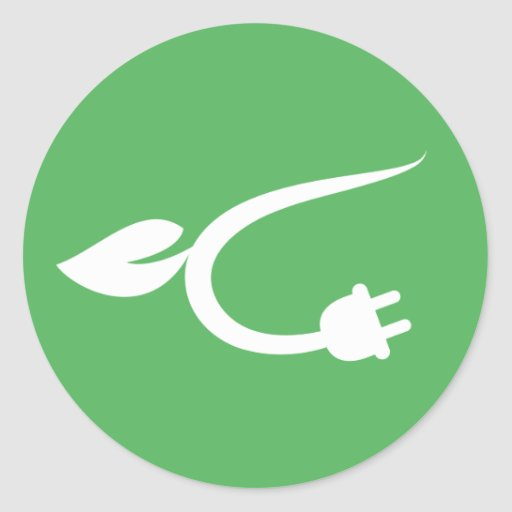 Alternative green energy power cable sticker