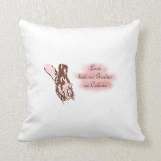 Alternative interracial/ lgbtq couple pillow