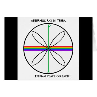 Alternative Peace Symbol Card