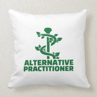 Alternative practitioner throw pillow