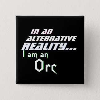 Alternative Reality MMORPG Orc 2 Inch Square Button