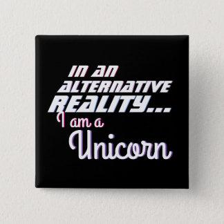Alternative Reality Wish Unicorn 2 Inch Square Button