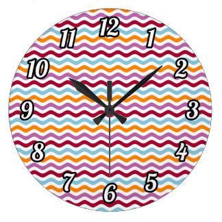 Alternative retro waves wall clocks