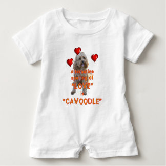 alternative spelling of LOVE is CAVOODLE Baby Romper