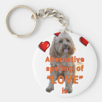 alternative spelling of LOVE is CAVOODLE Keychain
