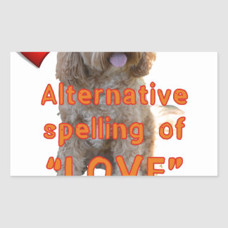 alternative spelling of LOVE is CAVOODLE Sticker