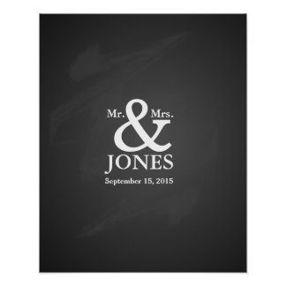 Alternative wedding guest signing book poster
