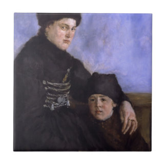Altesnational dachau woman with young child tile