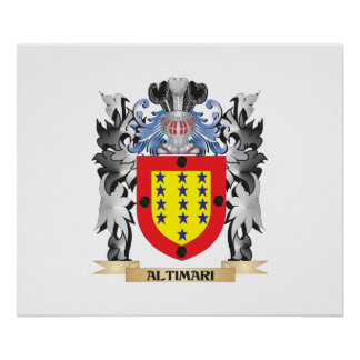 Altimari Coat of Arms - Family Crest Poster