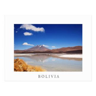 Altiplano landscape with volcano in Bolivia Postcard