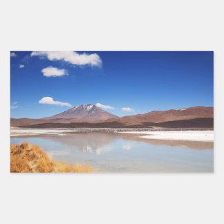 Altiplano landscape with volcano in Bolivia Sticker