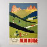 Alto Adige (South Tyrol) Italy Vintage Travel Poster