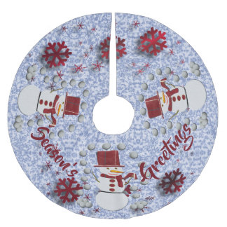 Alto Cheerful Snowman Brushed Polyester Tree Skirt