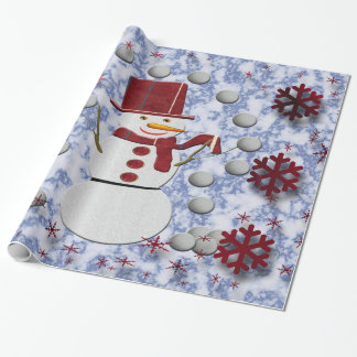 Alto Cheerful Snowman Wrapping Paper