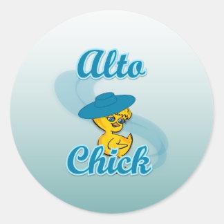 Alto Chick #3 Round Sticker