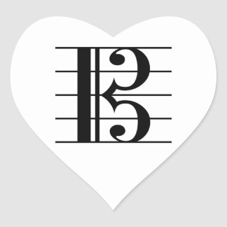 Alto Clef Heart Sticker