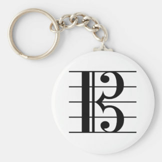 Alto Clef on Staff Keychain