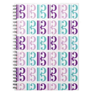 Alto Clef - Purple and Teal Spiral Notebook