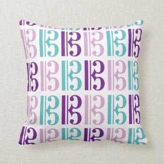 Alto Clef - Purple and Teal Throw Pillow