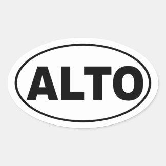 Alto Music Choir Singer Oval Sticker