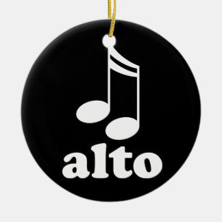 Alto Music Notes Choir Award Gift Ceramic Ornament
