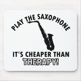 alto saxophone instrument designs mouse pad