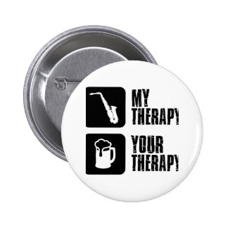 alto saxophone my therapy pin