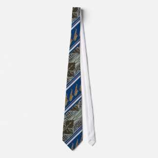Alto Saxophone Tie with Art Noveau Pattern