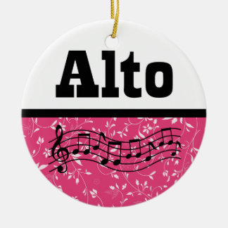 Alto Singer Choir Music Ceramic Ornament