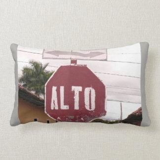 Alto - Stop - Road Sign Lumbar Pillow
