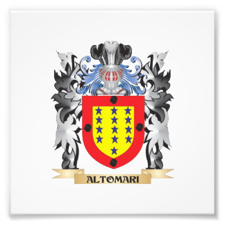 Altomari Coat of Arms - Family Crest Photographic Print
