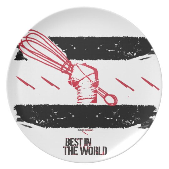 Alton Brown Best In The World Plate