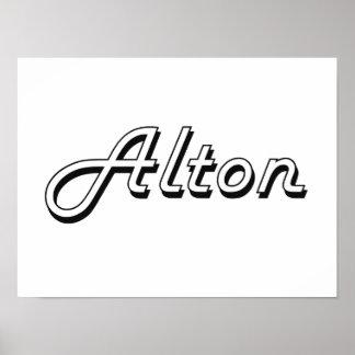 Alton Classic Retro Name Design Poster