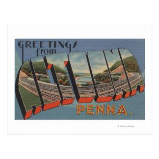Altoona, Pennsylvania - Large Letter Scenes Postcard