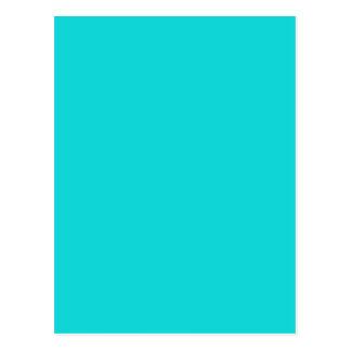 Altruistically Invaluable Turquoise Blue Color Postcard