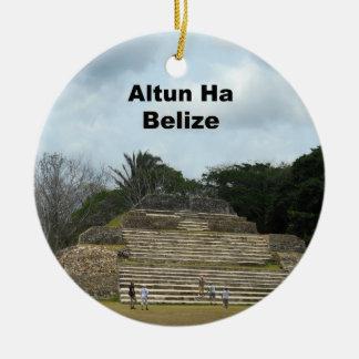 Altun Ha, Belize Round Ceramic Ornament