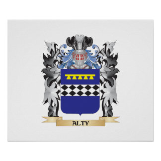 Alty Coat of Arms - Family Crest Poster