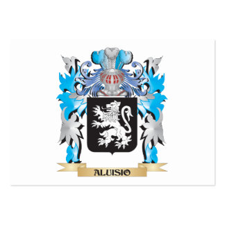 Aluisio Coat Of Arms Business Card Templates