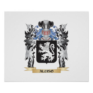 Aluiso Coat of Arms - Family Crest Poster
