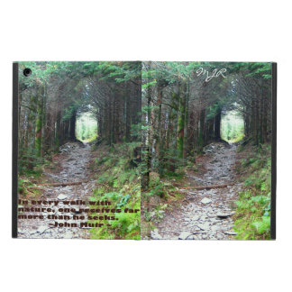 Alum Cave Trail: Every walk … J Muir w/monogram Case For iPad Air