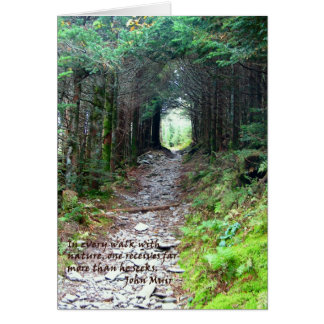 Alum Cave Trail: Every walk w/nature… John Muir Card