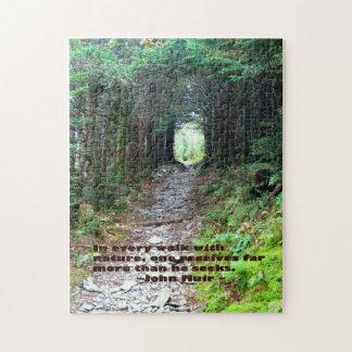 Alum Cave Trail: Every walk w/nature… John Muir Jigsaw Puzzle