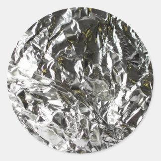 Aluminium craqué sticker rond